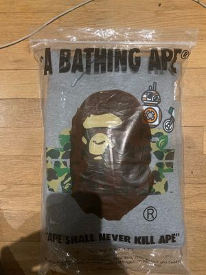 Bape x Star Wars grey hoodie medium DSWT open to offers for Sale in Murfreesboro, TN
