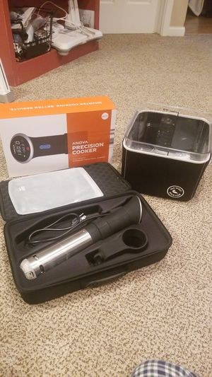 Anova sous vide, case, stasher, and bin with cover for Sale in New Glarus, WI