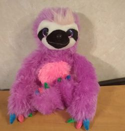 Purple plush sloth Great condition amoke free home for Sale in Huttonsville,  WV