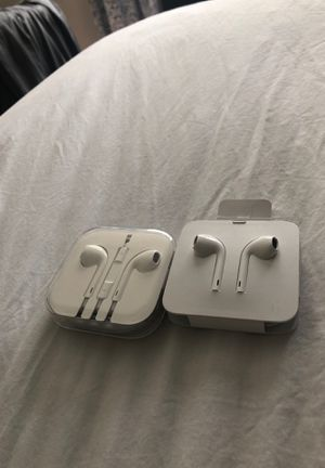 BRAND NEW Apple headphones!! Not wireless. One in box and one without but both NEVER USED. for Sale in Boynton Beach, FL