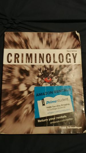 Criminology 3rd edition Frank Schmalleger for Sale in Houston, TX
