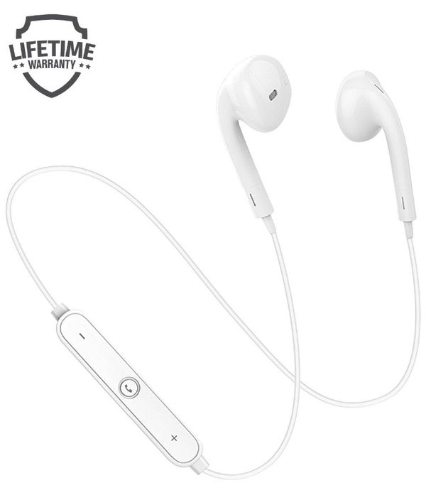 TruWire Bluetooth Earphones, Bluetooth 4.1 Headphones, Wireless Sports Headphones with Mic for iPhone X/10/8 Plus/7/7 Plus/Samsung S8/S7/Note 8/LG/HTC