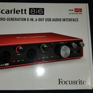 Focusrite Scarlett 8i6 3rd Gen for Sale in Miami, FL