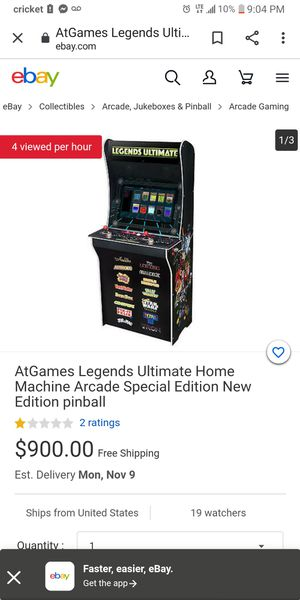 ARCADE legend for Sale in Chula Vista, CA