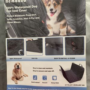 """100% Waterproof Dog Car Seat Cover, 54"""" W x 58"""" L for Sale in Pearland, TX"""