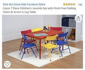 Cosco kids 6 chair table for Sale in Pasadena, CA