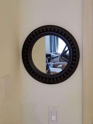 Wood Frame Circular Mirror for Sale in Miramar, FL