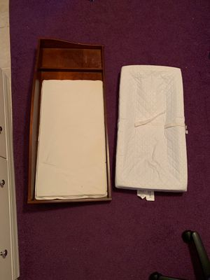 Baby changing table brown wood for Sale in Chesapeake, VA