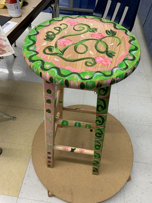 Decorated bar stool for Sale in Richmond, VA