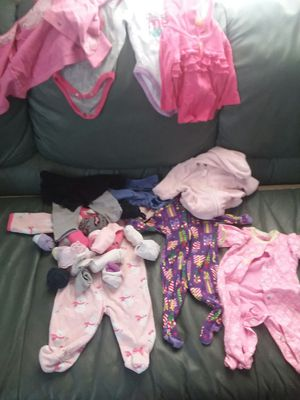 Baby Girl Clothes sz. 0-3 mths for Sale in Parkersburg, WV