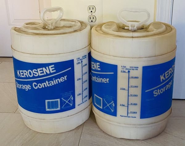 Two 5-Gallon Kerosene Storage Containers
