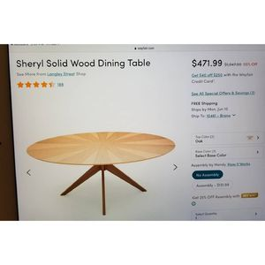 Sheryl Solid Wood Dining Table for Sale in Kunkletown, PA