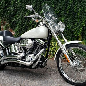 2003 Harley-Davidson, Deuce, pearl white with ghost flames for Sale in Muncy, PA