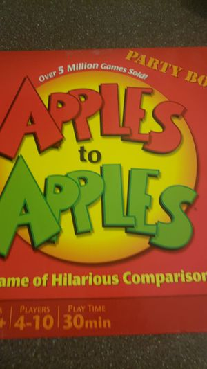 Apples to apples board game for Sale in River Grove, IL