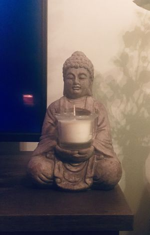 Buddha Statue with Candle for Sale in Worcester, MA
