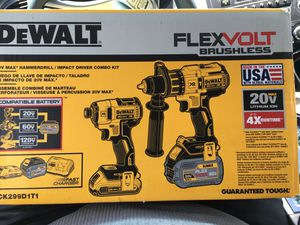 Flex Volt Hammer Drill And Impact Driver Combo Kit for Sale in Fort Lauderdale, FL