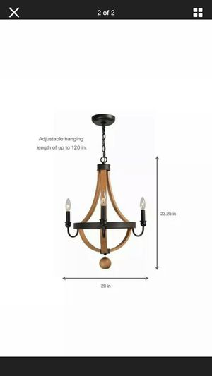 Indoor wooden chandelier 🖤 for Sale in Lakewood, CA