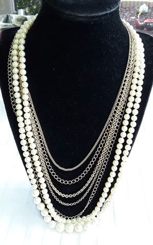 "Brooks Brothers ""346"" Gold Chains & Pearl Multi-strand Necklace for Sale in Port St. Lucie, FL"