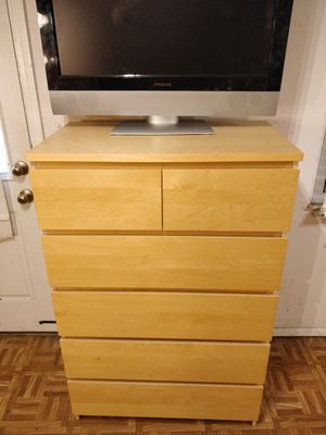 "Like new big chest dresser with big drawers in great condition, all drawers sliding smoothly, pet free smoke free. L31.5""*W18.5""*H48.5"" for Sale in Annandale, VA"