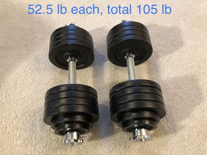 Dumbbells and weights home gym fitness for Sale in Bothell, WA