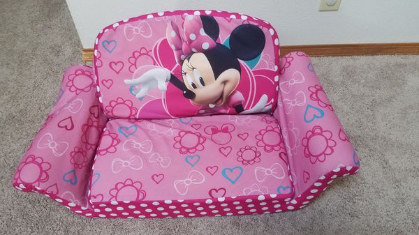 Minnie mouse, fold and unfold, toddler sofa.