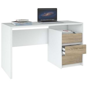 Foil Walker 3 Drawer Writing Desk in White for Sale in Herndon, VA