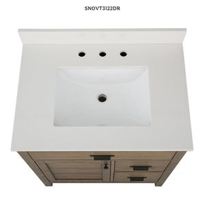 Home Decorators Collection Stanhope 31 in. W x 22 in. D Vanity in Reclaimed Oak with Engineered Stone Vanity Top in Crystal White with White Sink for Sale in Dallas, TX