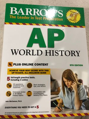 Barron's AP World history 8'th edition for Sale in Matthews, NC