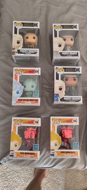 Dragon Ball Z & Game of Thrones Exclusive Funko Pops for Sale in Kennesaw, GA