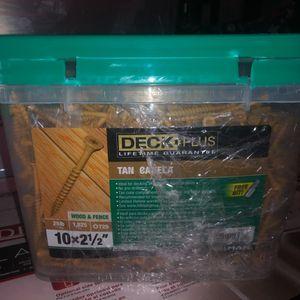 Deck Plus#10 x 2-1/2-in Ceramic Deck Screws (25-lb) Model #48417 for Sale in Durham, NC