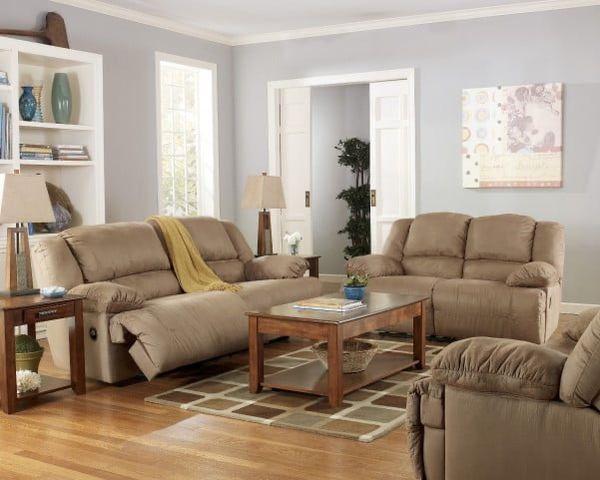 Ashley furniture reclining sofa set. So Comfortable!!