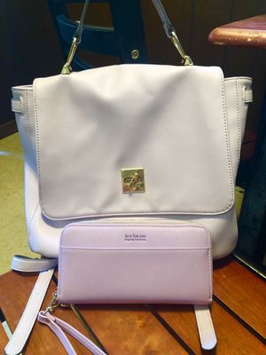 Backpack purse w matching wallet for Sale in Attleboro, MA
