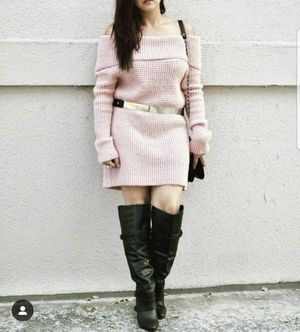 Size Medium Blush pink off the shoulder sweater dress for Sale in Bellevue, WA