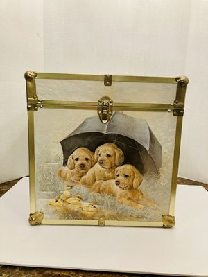 Beautiful Vintage 1980's Toy Box Storage Chest Trunk With Adorable Puppies & Ducklings for Sale in Spring Hill, FL
