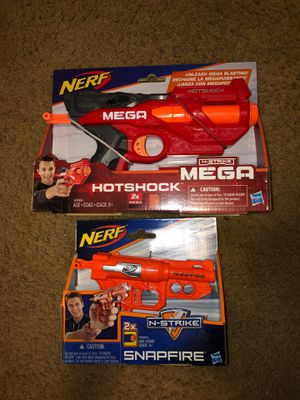 Small nerf guns mega & n strike for Sale in Salem, OR