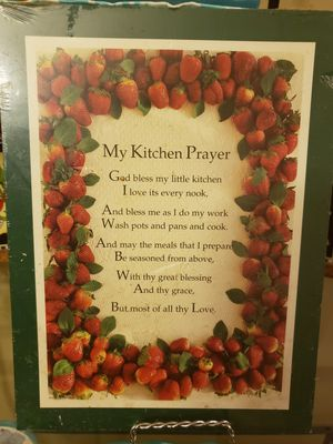Strawberry kitchen prayer plaque. for Sale in Greenville, SC