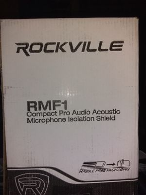 Rockville professional condenser microphone and Pro audio acoustic mic isolation sheild for Sale in Galveston, TX