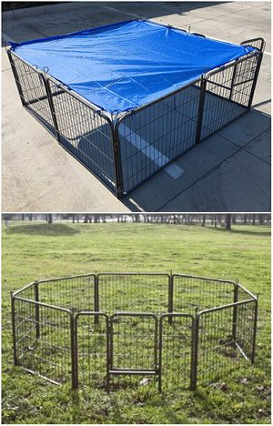 "New 24"" Tall x 32"" Wide Panel Heavy Duty 8 Panels Dog Playpen Pet Safety Fence gate valla Para perros (tarp not included) for Sale in Whittier, CA"