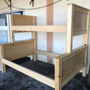 Bunk bed frame size twin full Pinewood for Sale in Laguna Hills, CA