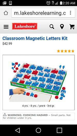 Classroom magnetic letters set. set de letras magnrticas para el aula for Sale in Austin, TX