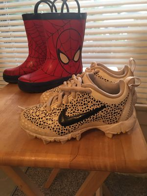 Nike Cleats size 10. $10. Rain boots size 9. $5 for Sale in Glendora, CA