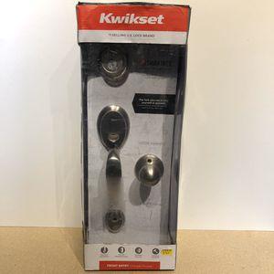Kwikset Dakota Satin Nickel Single Cylinder Door Handleset with Polo Door Knob Featuring SmartKey Security for Sale in Chicago, IL
