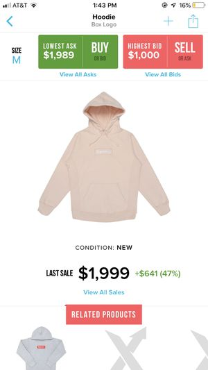 Supreme peach bogo hoodie for Sale in Chevy Chase, MD