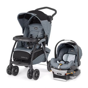 Chicco Cortina CX Travel System Stroller, Iron With car seat for Sale in St. Louis, MO