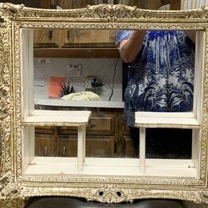 BEAUTIFUL ANTIQUE ORNATE FRAME 'SHABBY CHIC' SHADOW BOX MIRROR for Sale in Hoquiam, WA