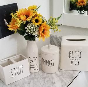 Rae dunn bathroom accessories bundle / farmhouse decor home restroom for Sale in Lynwood, CA