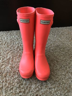 Hunter Rain Boots. Big Kids Size 4 for Sale in Atlanta, GA
