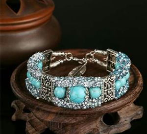 Vintage Bracelet with Turquoise Beads and Tibetan Silver Feather for Sale in Wichita, KS