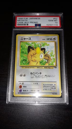 Pokemon Meowth Japanese Game Boy GLOSSY PSA10 GEM MINT for Sale in Queens, NY
