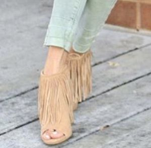 Fringe Booties Sz 7 for Sale in Streamwood, IL